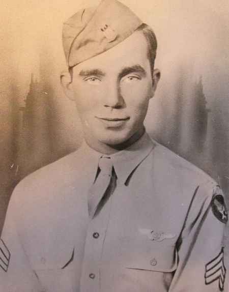 "Sgt. Bob Herres was 20 when this picture was taken. He was in the 15th Air Force in Italy when his B-24 ""Liberator"" bomber was shot down over enemy territory. Photo provided"
