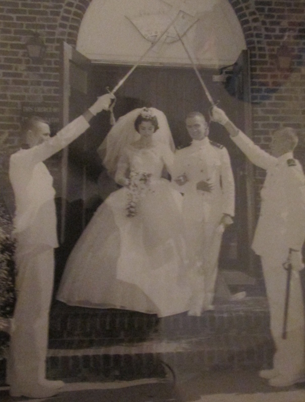 Art and Pat Rimback leave the Presbyterian church in Clark, N.J. on their wedding day, Aug. 18, 1962. Photo provided