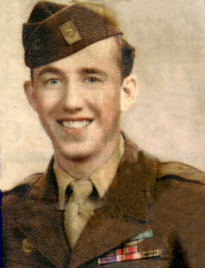 This picture of Pvt. William McWha was taken when he was 20 about the time he was discharged from the Army. Note the Combat Infantry Badge and the five Battle Stars on the ribbon. He saw action in the five campaigns during World War II in Europe with Gen. George Patton's 3rd Army
