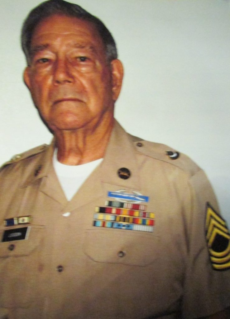 Master Sgt. Logsdon after more than three decades in the military. Photo provided