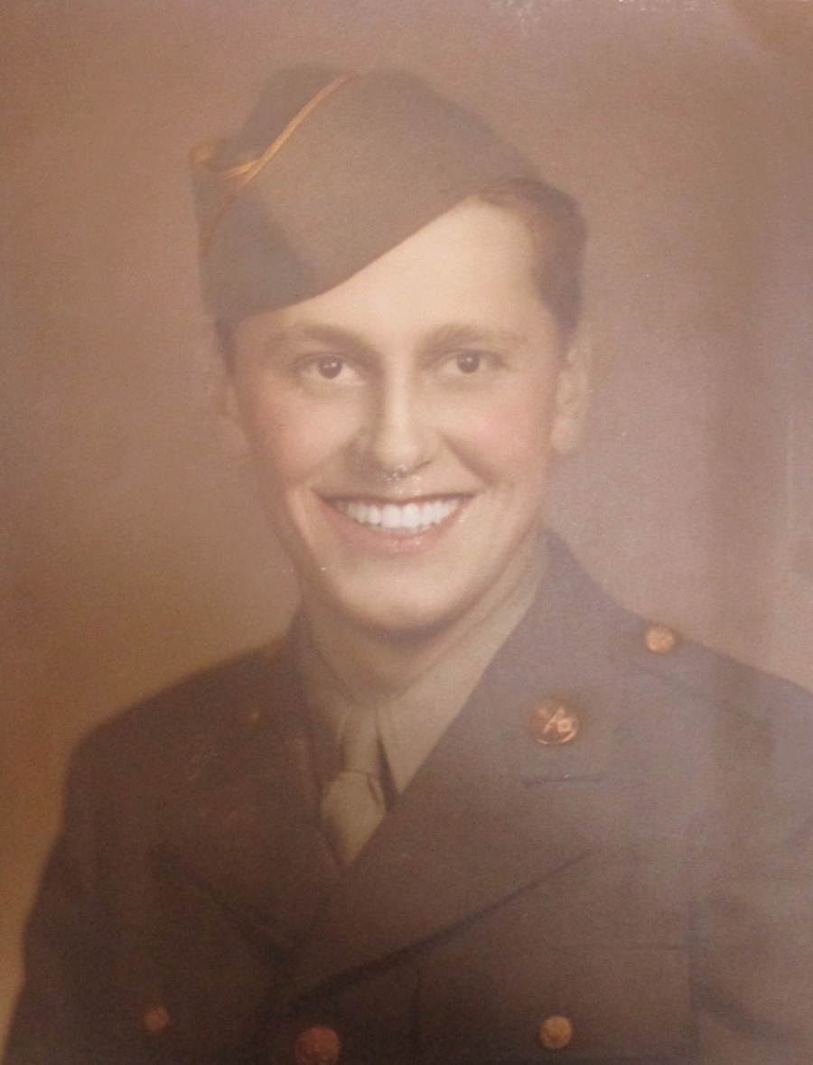 Pfc. Joe Falis at 20 when he was a member of the 718th Signal Air Warning Company in Europe during World War II. Photo provided