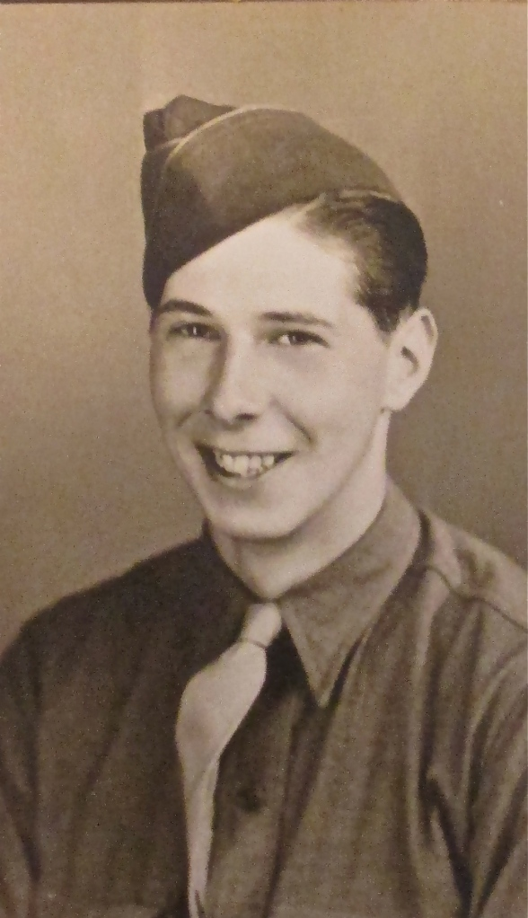 Pfc. Don Schmitt was 18 years old and just out of boot camp when this picture was taken in 1945. Photo provided