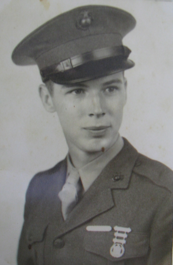 When this photo was taken Marine Pvt. Rudy Raymond had just gotten out of boot camp at Parris Island, N.C. in 1943. He was 18 years old and on his way to the Pacific to fight the Japanese. Photo provided