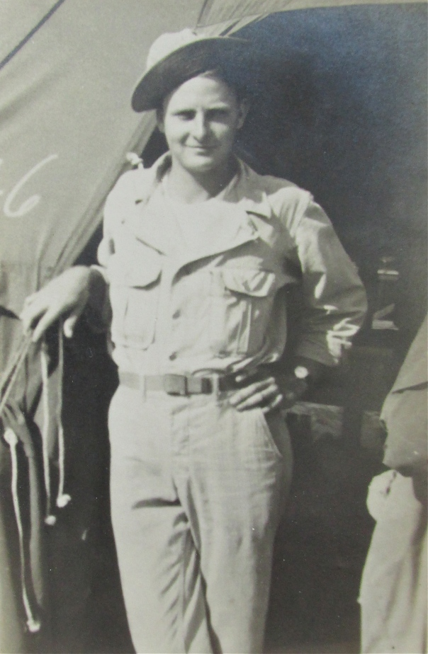 Cpl. George Walther is pictured as an electrician in Oran North Africa during World War II. He was serving with  the 69th Station Hospital overseas during the war. Photo provided