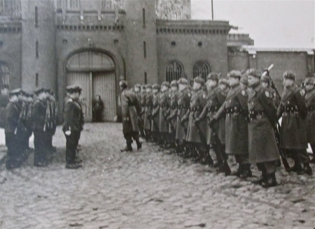 The changing of the guard at Berlin's Spandau Prison in 1950 when the Russian detachment took over the guard detail where seven high-ranking Nazi officials were serving time after World War II. Willis was part of the American detail that guarded the prison when it was their turn. Photo provided