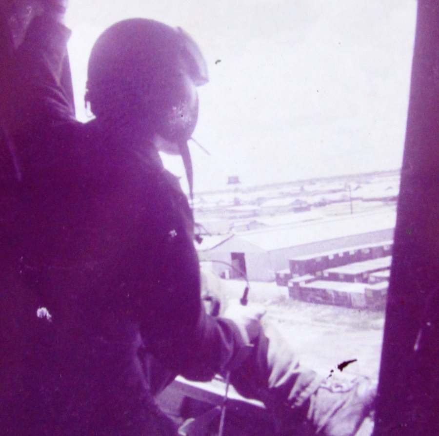 """Sgt. Derek Nelson of North Port is door gunner aboard a CH-47  """"Chinook"""" helicopter in Vietnam. Photo provided"""