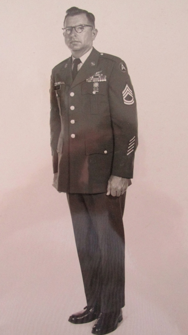This is a picture of Sgt. 1st Class Fred Davis taken in 1973 shortly before he retired from the U.S. Army after serving in World War II and two tours in Vietnam.  Photo provided
