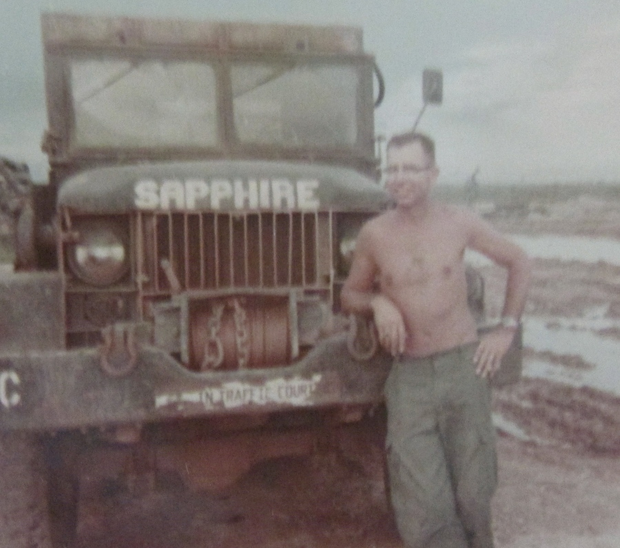 Davis is pictured with an Army truck when he was serving at Lai-Khe, Vietnam in 1966. Photo provided