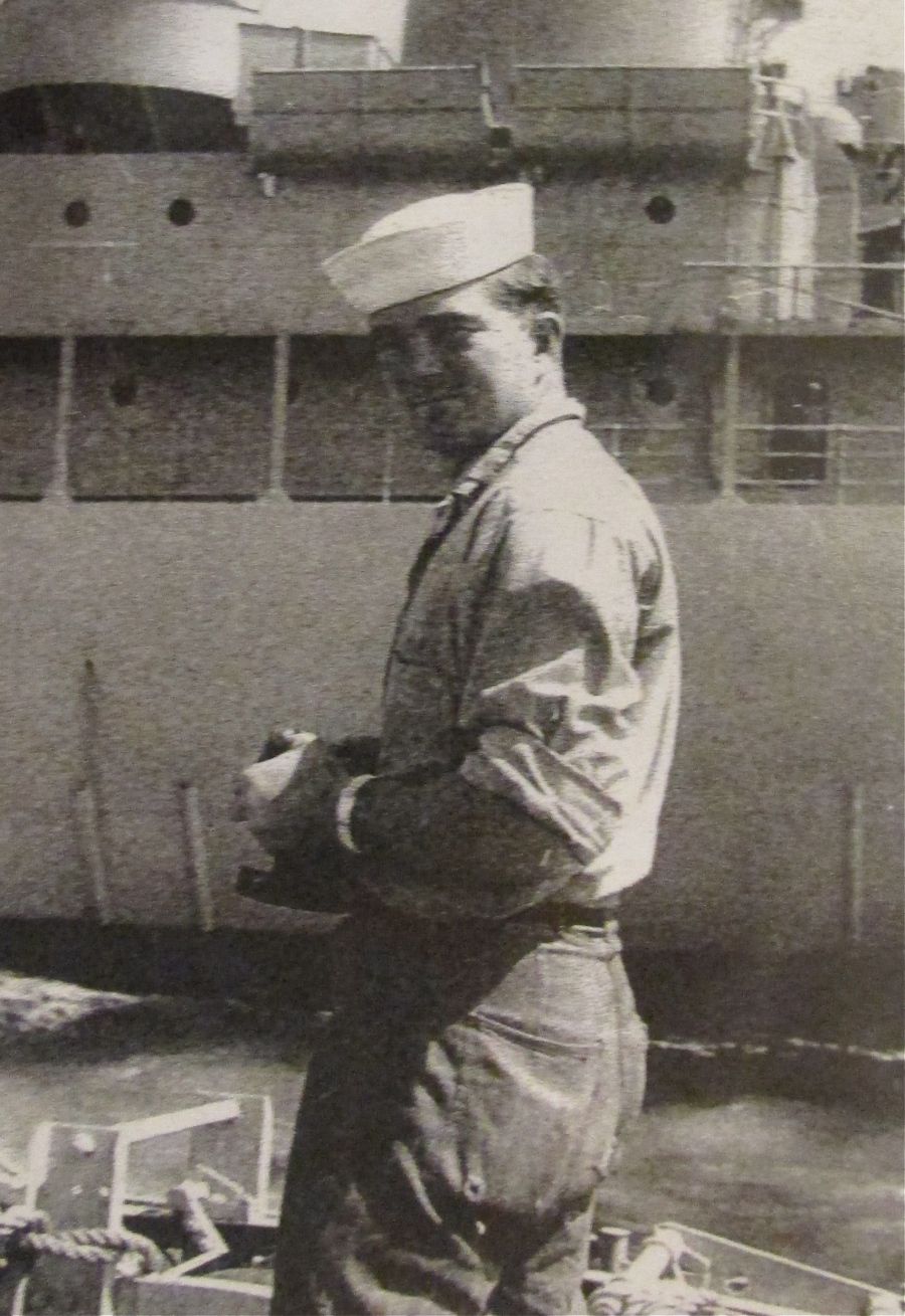 Master Chief Lee Mauk USN ret. of Venice was senior electrician aboard the USS Skate the first nuclear sub to crack the Polar icecap in winter during a 1958 cruse. Photo provided