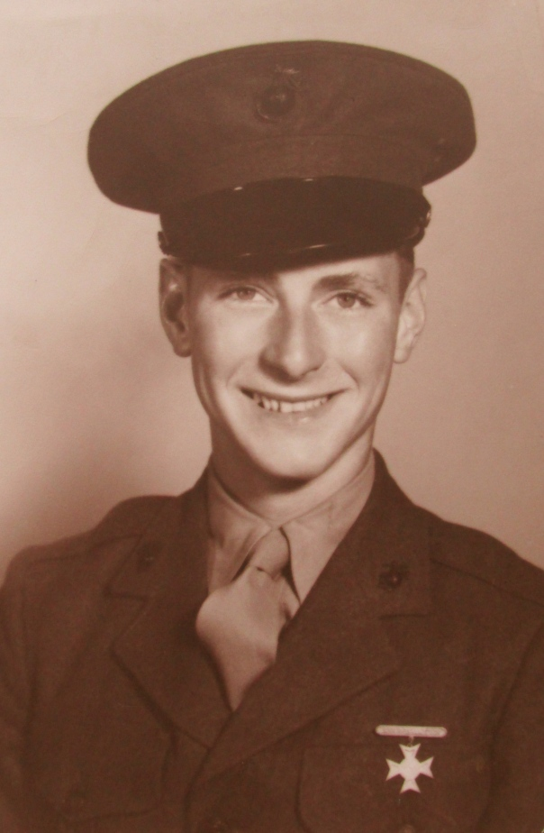 When this picture was taken on Dec. 20, 1943  Bob Porter of Venice was just graduating from boot camp at Parris Island, S.C. He was 17 and about to be turned into an amphibious landing craft mechanic who would fight on Iwo Jima during World War II. Photo provided