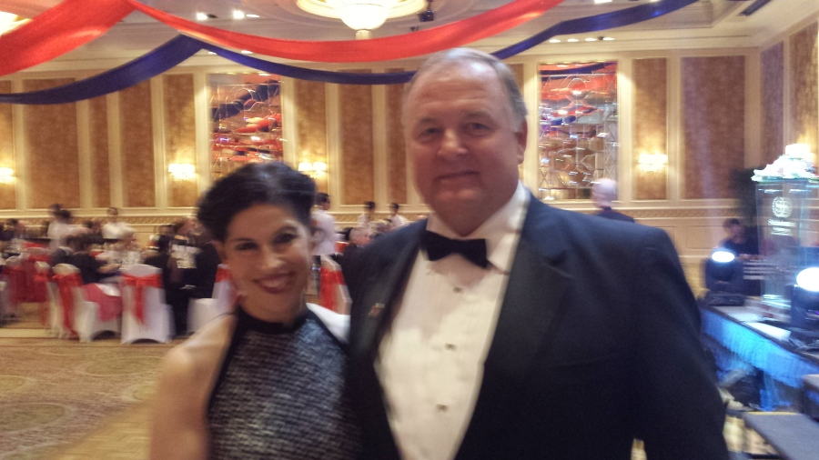 Counsel General Rena Bitter and Randy Smith at the Marine Corps Ball in Saigon. Photo provided