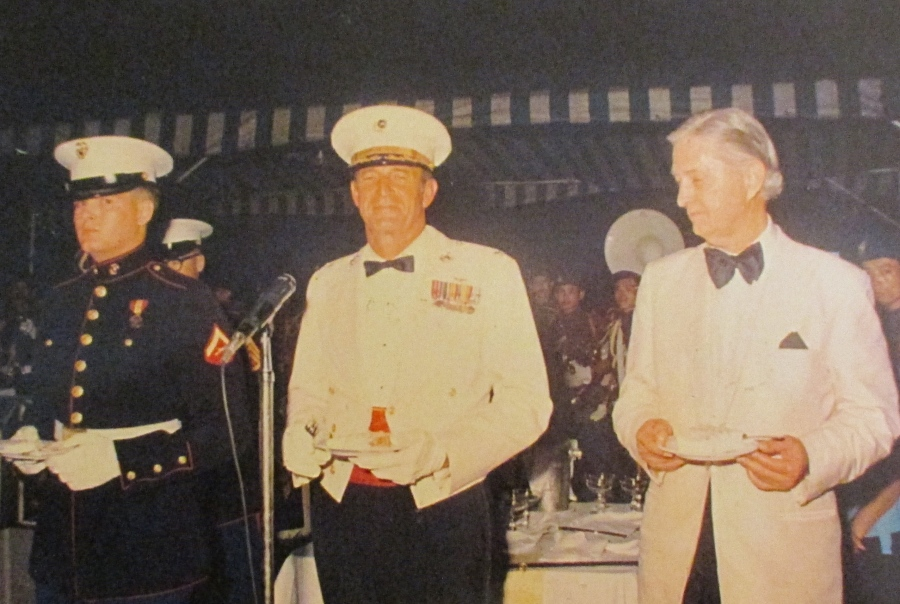 Smith took a bow for being the youngest Marine at the ball. Beside him was a colonel who was the oldest and Ambassador Graham Martin, the senior official on post. Photo provide