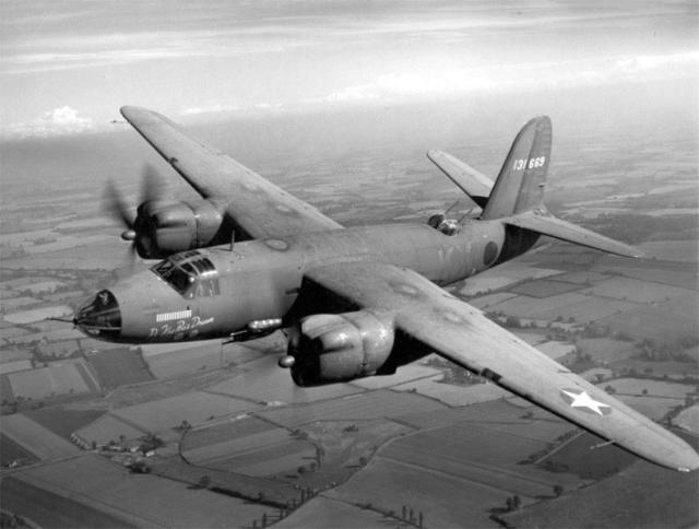 "The B-26 ""Marauder"" was nicknamed ""The Widowmaker"" because it was succeptible to crashing on landings and takeoffs. It eventually proved itself to be a first-class attack bomber. Photo provided"