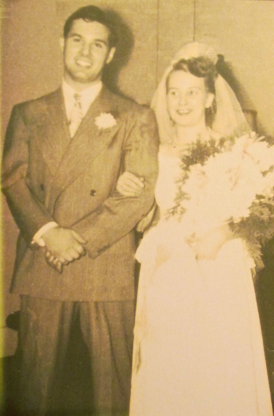 Francis and his wife, Norma Jean, on their wedding day in June 1948 in Pittsburgh, Pa. his hometown. Photo provided