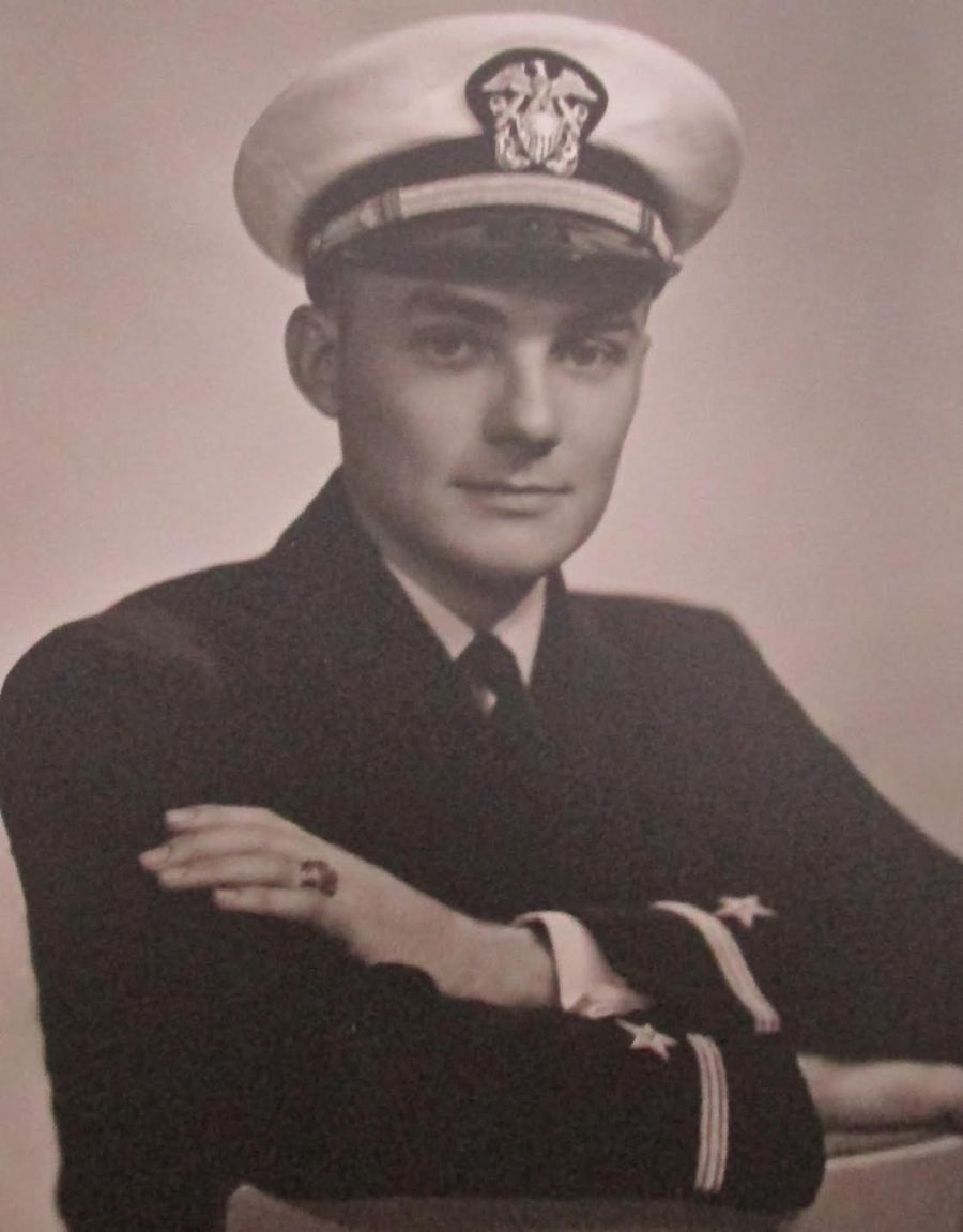 John Dexter of Jacaranda Trace apartments in Venice was an expert on underwater mines during the Second World War. He was a lieutenant in Mine Warfare Operations. Photo provided