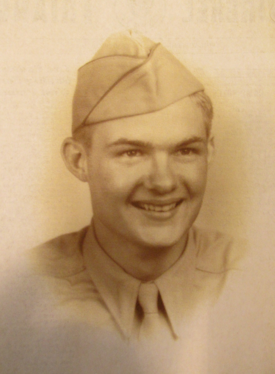 Pvt. Cliff Birdsall about the time he got out of boot camp in 1943 at 19. He became a gunner with the 106th Infantry Division in Europe during the Second World War. Photo provided