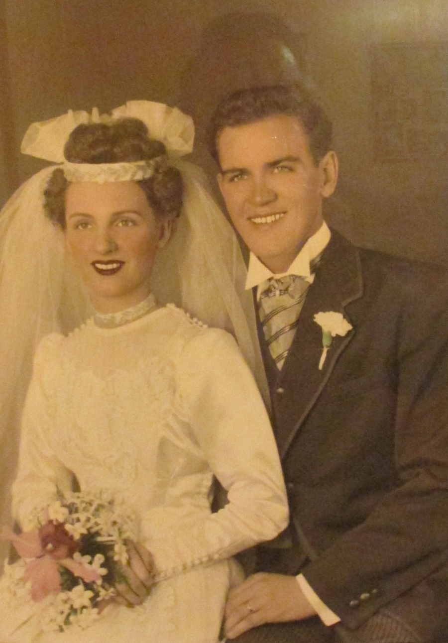 Bebe and Henry Cwiklinski on their wedding day, Oct. 13, 1945 in Buffalo, N.Y. He had returned from war in the Philippines three months earlier. Photo provided