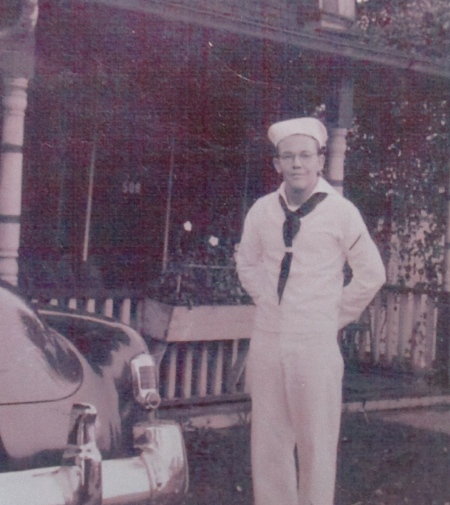 Jim Julian was a 17-year-old high Naval Reserve recruit in 1953 when this picture was taken at his home in Pittsburg, Pa. Photo provided