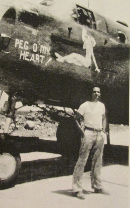 On his second tour of duty, Bates is pictured in front of his B-25 Mitchell bomber. He was in the 12th Air Force in Italy during World War II. Photo provided