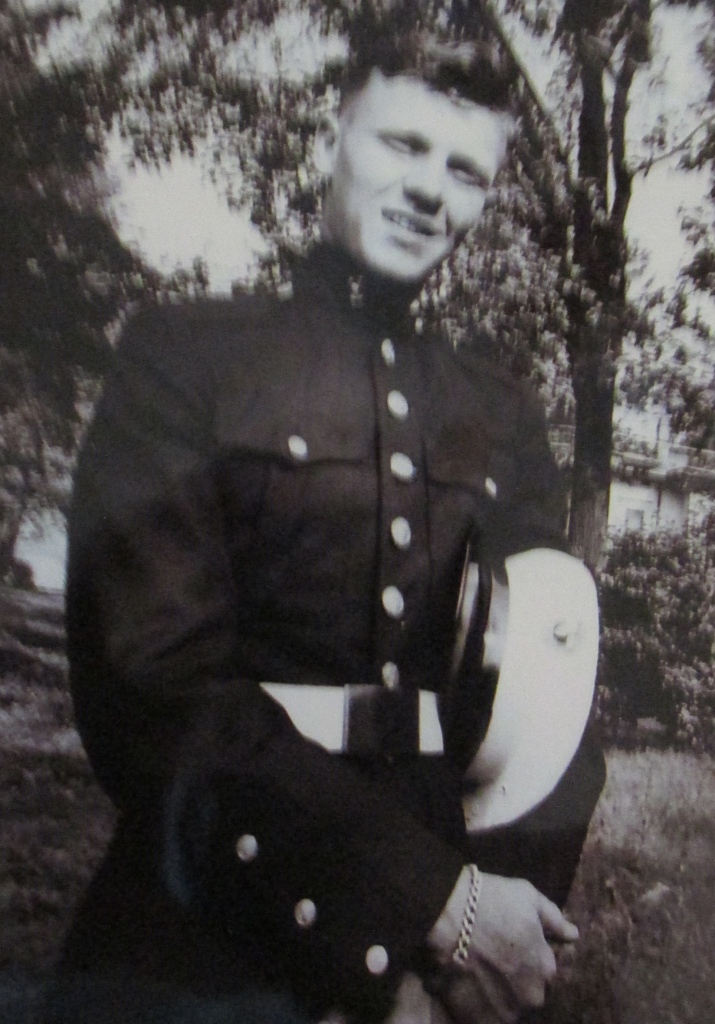 Peterson was 17-years-old and had just graduated from boot camp at Parris Island, S.C. in 1946 when this picture of him in full dress uniform was taken. Photo provided