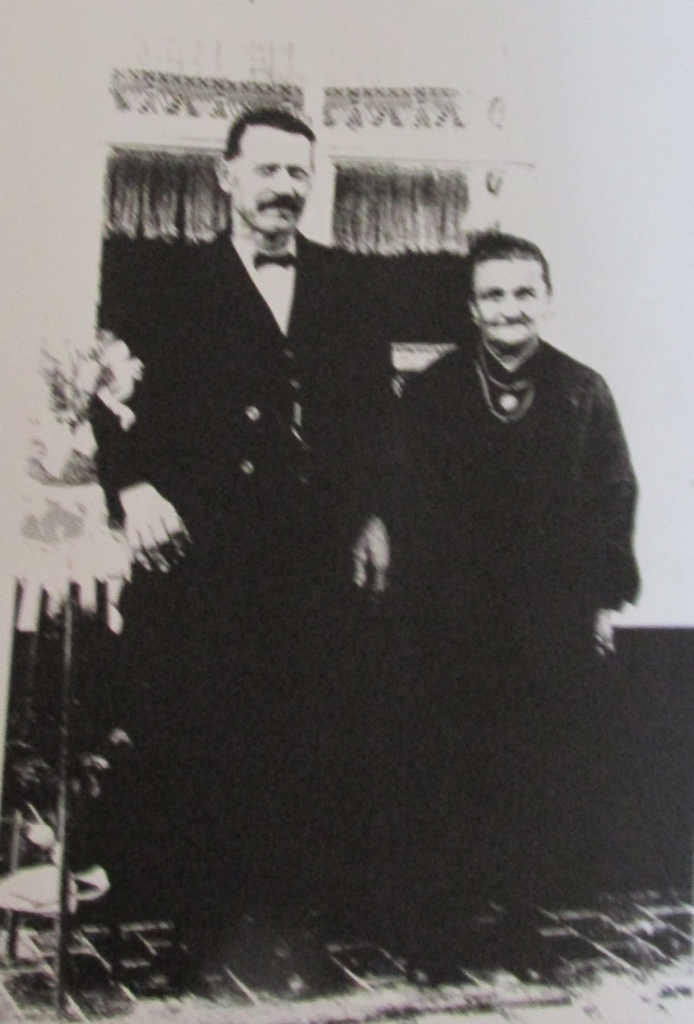 Gentiel and Marie Meersman are pictured in their home near Luxembourg City, Belgium home sometime before his grandfather was shot by the Germans during the war. Photo provided