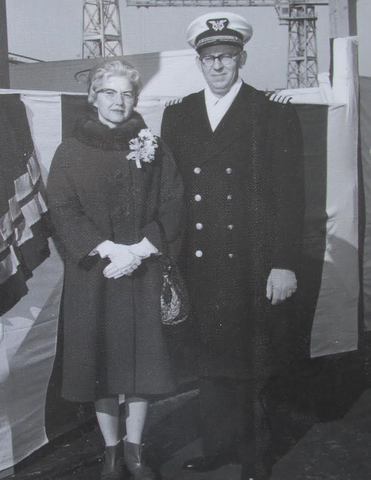 Capt. Reddel and his wife Dorothy aboard the Kingsport about the time she was recommissioned in Philadelphia in the 1960s. Photo provided