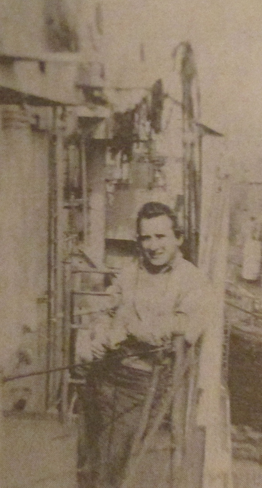 Wagner was about 19 years old when this picture was taken of him aboard the USS Gilligan, a destroyer escort. He was 17 when he joined the Navy in 1943. Photo provided