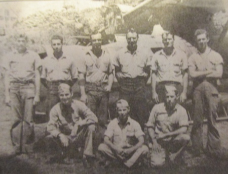 This is Frank Arcidiacono's PBY crew. He is the fellow in the back row at left. In the course of four days near Guadalcanal and Santa Cruz, the crew's plane sank two Japanese cruisers. Photo provided