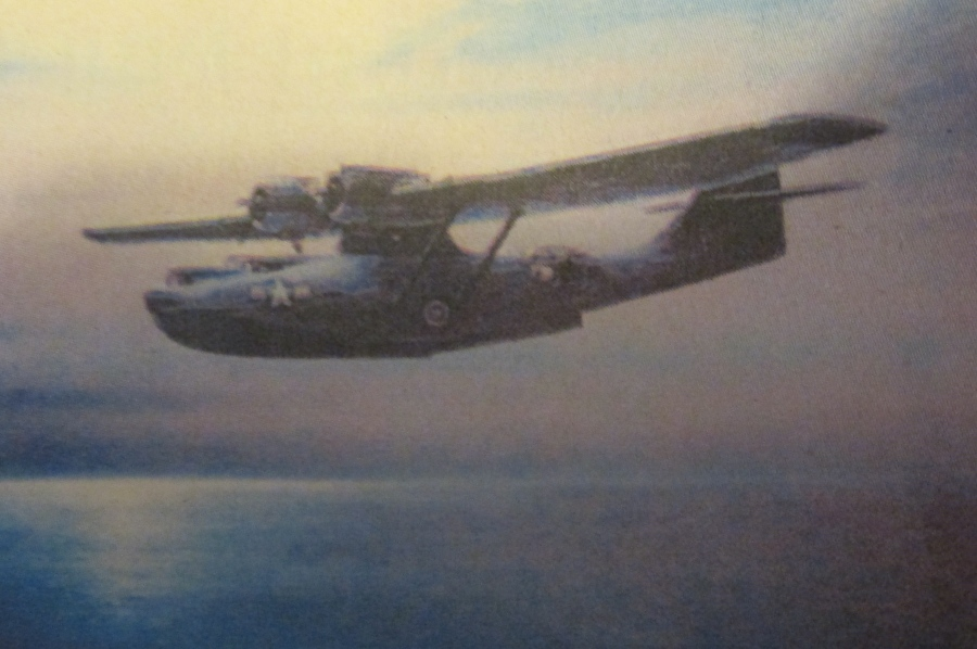 As strange as it may seem, PBY patrol planes like this, which cruised at about 110 mph, were used to good advantage as night bombers in the Paciific during World War II. Photo provided