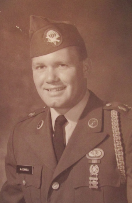 This was Randy McConnell about the time he graduated from jump school and joined the 101st Airborne Division in Vietnam  in 1968. He was 21-years old. Photo provided