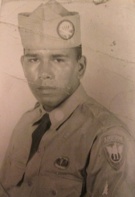 Pvt. Barney Jimerson was 21 and just graduated from Airborne School at Fort Campbell, Ky. when this picture was taken in 1955. Photo provided