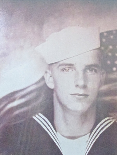When this picture was taken Glen Johnson had just graduated from Navy Boot Camp in 1943. He was 18 years old. Photo provided