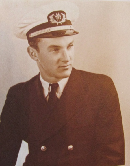 Glenn at 21 when he served as Radioman 1st Class aboard the Liberty ship John A. Donald for three years after the war. Photo provided.