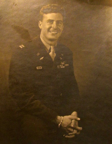 This was Capt. Ackerman in his mid-20s during the Second World War when he was the executive officer of the 320th Bomb Group, 12th Air Force flying out of Sardinia with a squadron of B-26 attack bombers. Photo provided