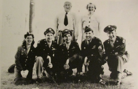 Sgt. Francis Murphy is third from the right squatting along with his sister and brothers and their parents standing. From the left: Mary, Michael, Francis, Daniel and John. Photo provided