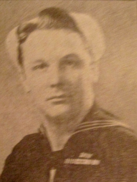 This was Val Gerald when he served aboard the Essex Class aircraft carrier USS Randolph in the Pacific during World War II. Note the three battle stars on his campaign ribbon signifying he took part in three major battles: Iwo Jima, Okinawa and Japan. Photo provided