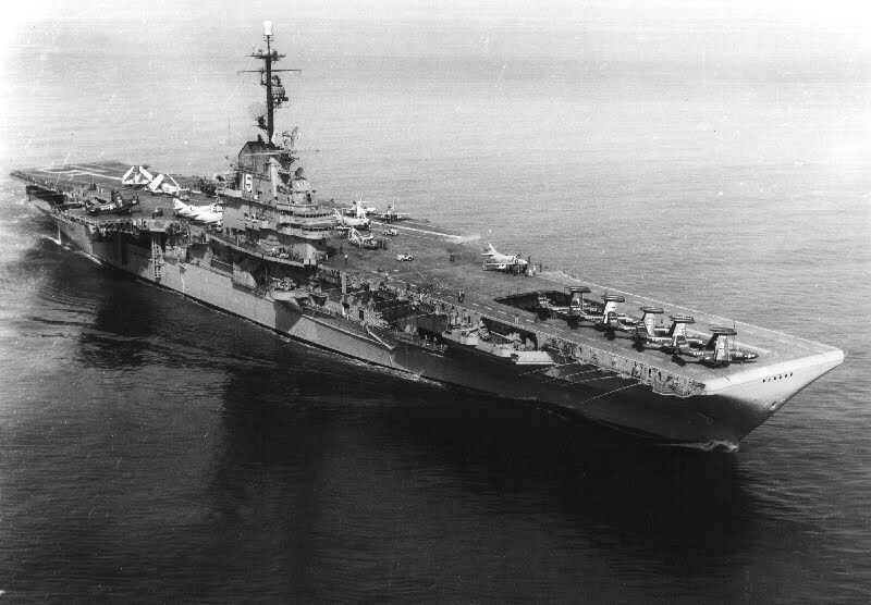 The USS Randolph was an Essex Class carrier, the largest military ship to fight i World War II. While Val Gerald of Port Charlotte served aboard it more than 60 years ago, it fought at the Battle of Iwo Jima and Okinawa. It finished her World War II service by taking the war to the Japanese home islands. Photo provided