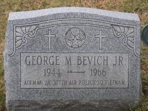 This is Airman 2nd George Bevich's grave in Summit Hill, Pa., 50 miles north of Allentown. Photo provided