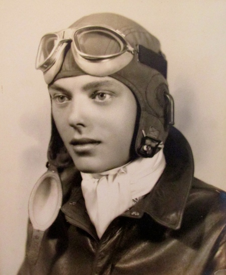 "This is 2nd Lt. George E. French shortly after graduating from flight school in 1942. He was 20-years-old and headed to the 13th Air Force in the Pacific to fly a B-24 ""Liberator"" bomber. Photo provided"