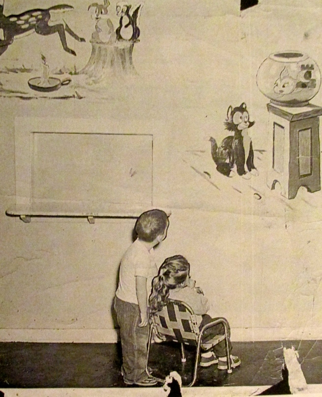 This is the mural he painted at the children's day care center on the naval base in Jacksonville. Photo provided