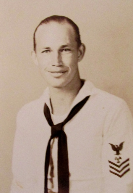 This was Don Platt as a Machinists Mate 1st Class when he served aboard the light cruiser Astoria in the Pacific during World War II. He was 22 at the time. Photo provided