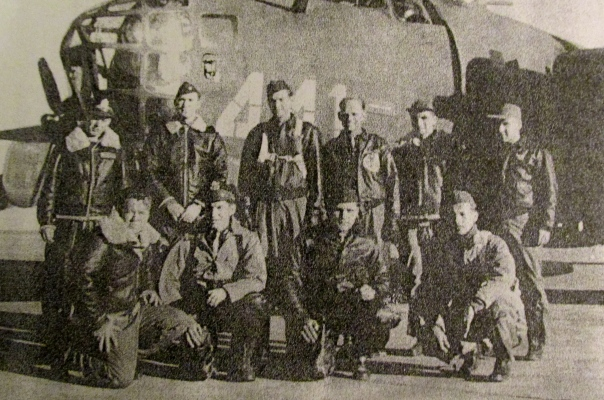 Coffield and his B-24 crew in the winter of 1943-44 in Foggia, Italy. Photo provided