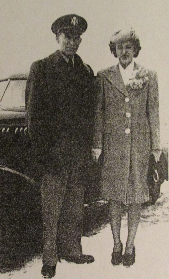 Floyd and Barbara Coffield on their wedding day, February 5, 1945. Photo provided