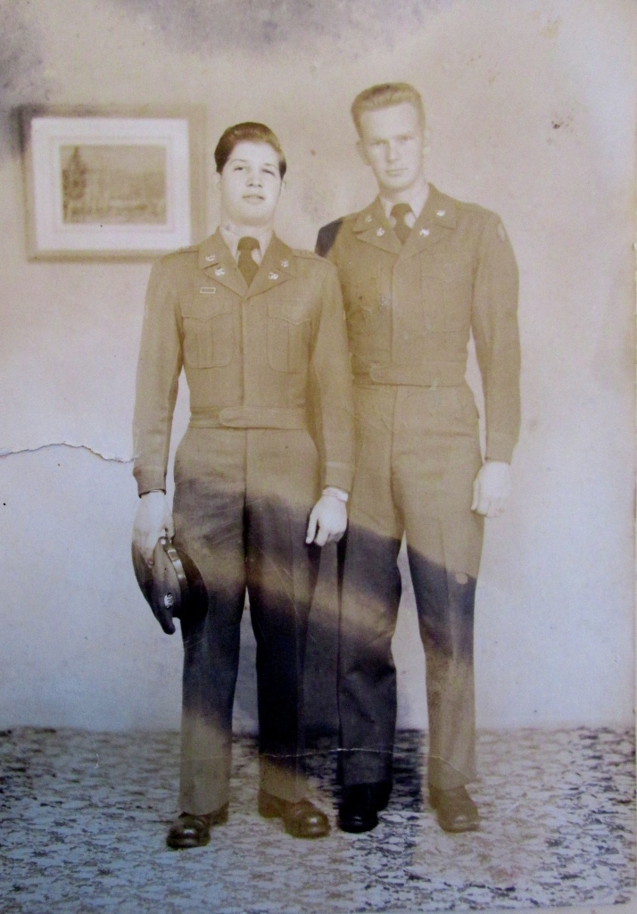 Bill (left) is pictured with his best military buddy, Sgt. Duke Cranford while serving with the 19th Infantry Division in Japan as occupation troops in 1950 just before the start of the Korean War. He lost many of his 19th Infantry Division buddies in Korea. However Dunk survived to retire after 30 years in the Army as a command sergeant major. Photo provided