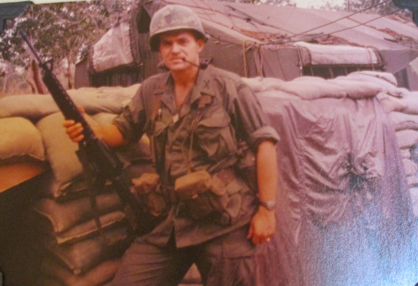 Lt. Tom Block of Punta Gorda holds his M-6 rifle on his hip while serving with the U.S. Army's 199th Brigade in Vietnam in 1967-68. Photo provided