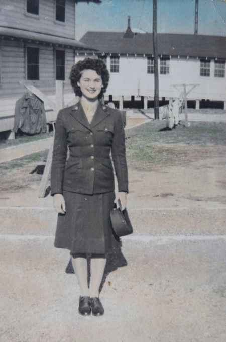 Pvt.. Mary O'Neal shortly after she joined the Women's Army Corps (WACS) in 1943 at  Fort Dix, N.J. where she worked until the end of World War II as a clerk types. Photo provided
