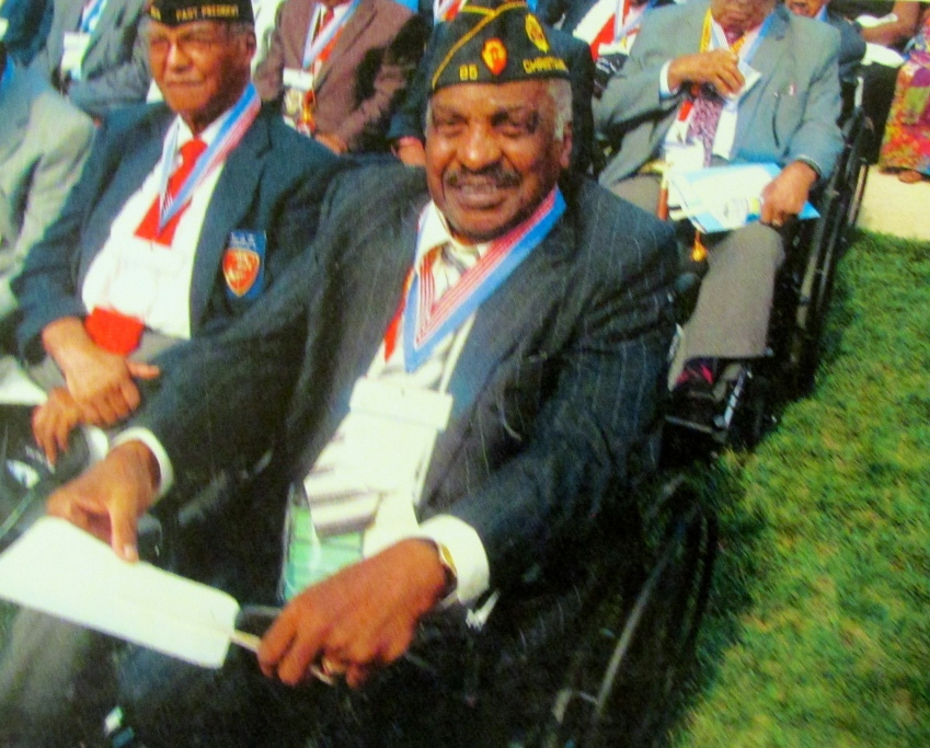 This was Newton in D.C. waiting too receive his Congressional Gold Medal together with some 300 plus other black Marines. Photo provided