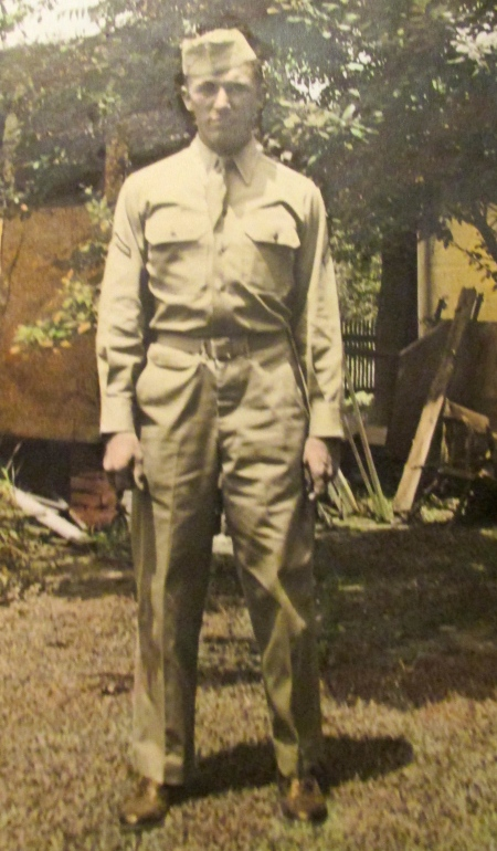 Sgt. Jim Dewhirst at 21 while he was stationed in Rackheath, England in 1944 and  '45. He was a radio operator on a B-24 bomber flying combat missions over Germany with the 467th Bombardment Group, 8th Air Force. Photo provided