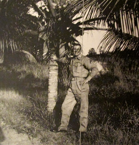 Dave Evans almost looks like a tourist as he lounges under a palm tree at Guantanamo, Cuba in 1956 when he was a private first class in the United States Marine Corps. Photo provided