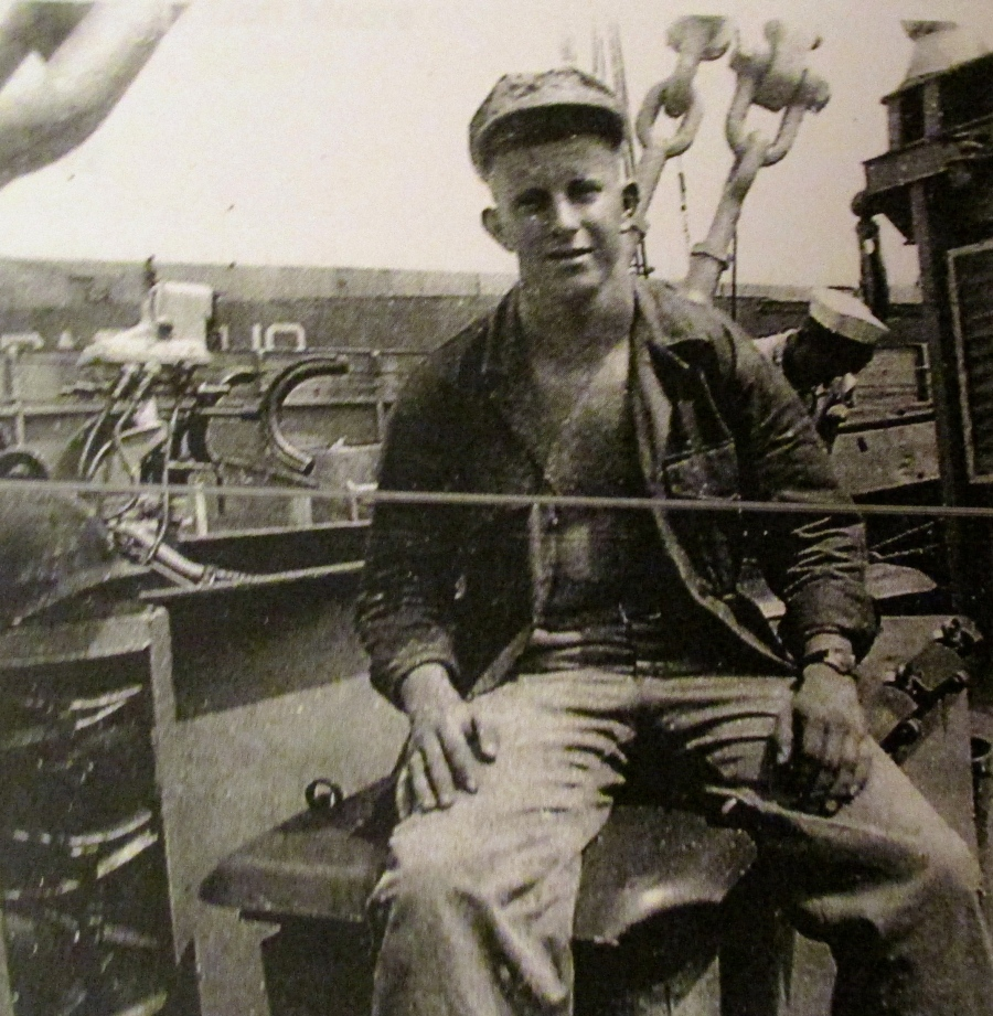 Cpl. Evans is headed to Puerto Rico from the US aboard an attack transport ship in the 1950s during one o this deployments in the Marine Corps. Photo provided